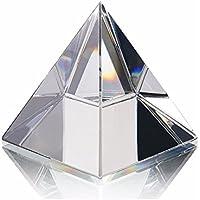 Pirámide de cristal de cristal estatua egipcia estatua rara mini joyería del arte decoración del hogar (50mm)