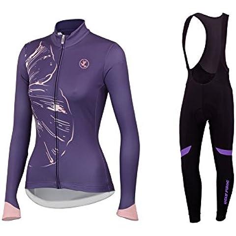 Uglyfrog 2017 Donna Modo Di Sport Esterni Di Panno Morbido Manica Lunga Ciclismo Magliette + BIB Pantaloni Bicicletta Body Triathlon Abbigliamento TZCN05