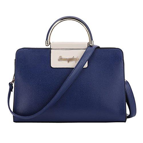 DISSA ES883 neuer Stil PU Leder Deman 2018 Mode Schultertaschen handtaschen Henkeltaschen,300×140×190(mm) Blau