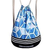 Hardworking bee Diamond Shape Pattern Backpack Drawstring Backpack Polyester Weight Loss Breathable Unisex Backpack Bundle Pocket High Taste