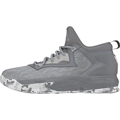 adidas D Lillard 2, Scarpe da Basket Uomo, D(M) US Clear Onix-grey-white