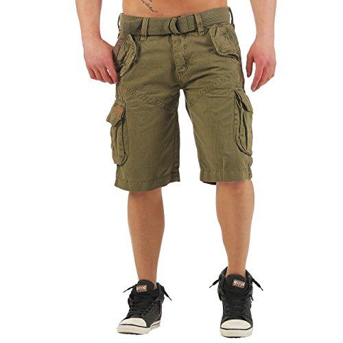 89K1 Geographical Norway Pirouette Herren Bermuda Shorts Kurze Hose Mastic XL