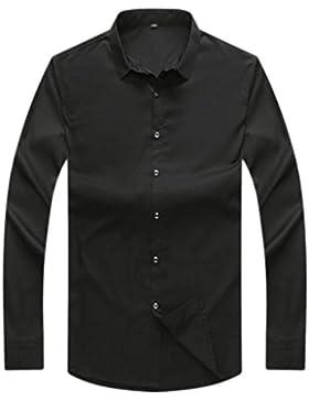 Camisa De Los Hombres Manga Larga De Gran Tamaño Camisa Suelta Abrigo Otoño E Invierno Camisa De Negocios Cálida