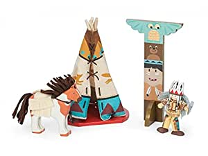 Le Toy Van TV471 Tipi Camp Set mit Indianer