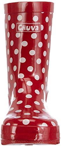 Chuva Kinder Gummistiefel Stip Rot Mit Weißen Punkten 23, Bottes Mixte enfant Rouge (rot(rood) 03)