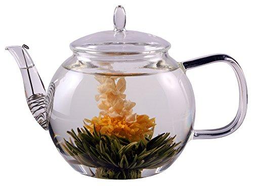 """PREISHAMMER: 1300ml Tee- und Kaffeekanne mit Sieb im Auslauf und Glasdeckel, ideal für 2 Personen, Feelino \""""Special Edition\"""" spülmaschinengeeignet, hitzebeständig, hochwertiges Borosilikatglas …"""