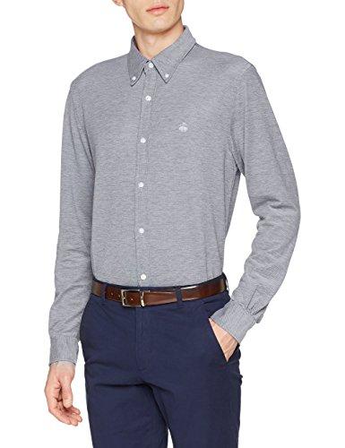Brooks brothers 100096828-411, camicia casual uomo, blu (navy), medium (taglia produttore:m)
