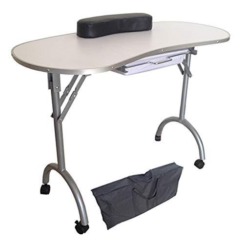 Table de manucure Studio Maison Étudiant Dortoir Portable Pliant Bord En Métal Edge Nail Table Table Manucure