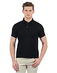 Indian Terrain Mens Solid Regular Fit T-Shirt (ITA17TSK304-8907633777465_Black_2XL)