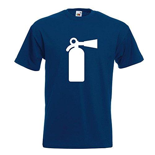 KIWISTAR - Feuerlöscher T-Shirt in 15 verschiedenen Farben - Herren Funshirt bedruckt Design Sprüche Spruch Motive Oberteil Baumwolle Print Größe S M L XL XXL Navy