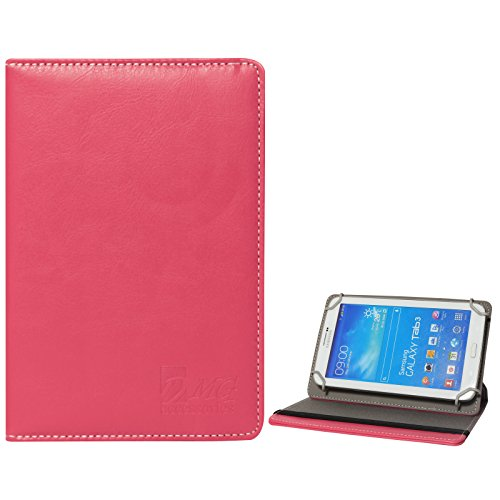 DMG Universal 360 Swivel Stand Book Cover Case for Lenovo IdeaTab A1000 Tablet (Pink)