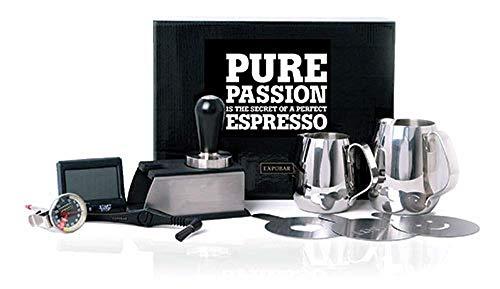 Expobar | Barista Kit | Erstaustattung Set für Espressomaschine | Tamper Pitcher Tamperstation Shot Timer Thermometer - Barista Kit