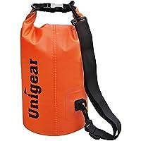 Sacco Dry Bag Borse Impermeabile, Dry Bag Galleggiante può Essere Usato per la Navigazione, Trekking, Kayak, Canoa, Pesca, Rafting, Nuoto, Campeggio, Sci e Snowboard con Omaggio Gratuito di Una Custodia Telefono Impermeabile Universale (Arancione, 20L)