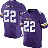 Thole NFL Minnesota Vikings 22# Smith Name Number Shirt Jersey Trikot,Purple,Men-XL