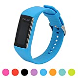Correa de repuesto para pulsera de actividad Polar A360 Smart Watch iFeeker, correa de silicona y goma para la pulsera de actividad A360 (solo la correa, no incluye el reloj), azul celeste