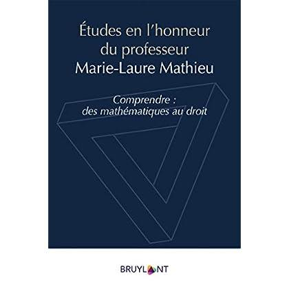 Études en l'honneur du professeur Marie-Laure Mathieu: Comprendre : des mathématiques au droit