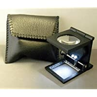 Fold-flat Linen Testers With LED Light !! Fabric, Embroidery Magnifier Glass Stand (metal) by Well Made Tools