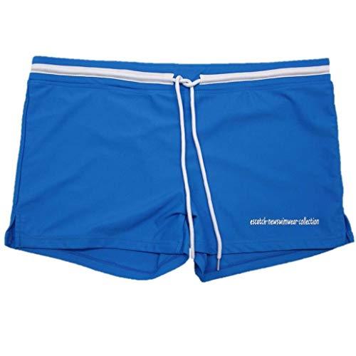 iYmitz Herren Boardshorts, Männer Atmungsaktiv Trunks Hosen Drucken Badeshorts mit Kordelzug Beachwear Beachwear(Himmelblau,EU-40/CN-L)
