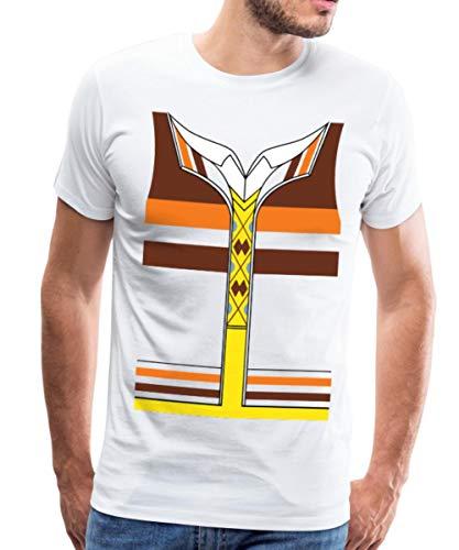 Kostüm Raj Koothrappali - Spreadshirt The Big Bang Theory Raj Koothrappali Männer Premium T-Shirt, S, Weiß