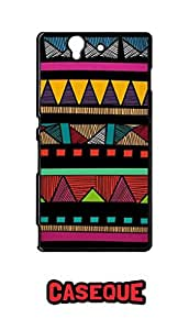 Caseque Tribal Salsa Aztec Back Shell Case Cover For Sony Xperia Z