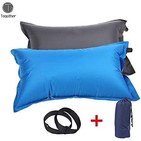 Togather® al aire autoinflable camping almohada de viaje almohadilla del aire cómodo para las hamacas tiendas de campaña sacos de dormir en el avión, playa, camping (color al