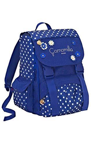 Seven Zaino Sdoppiabile Big Camomilla Flowers & Dots blù