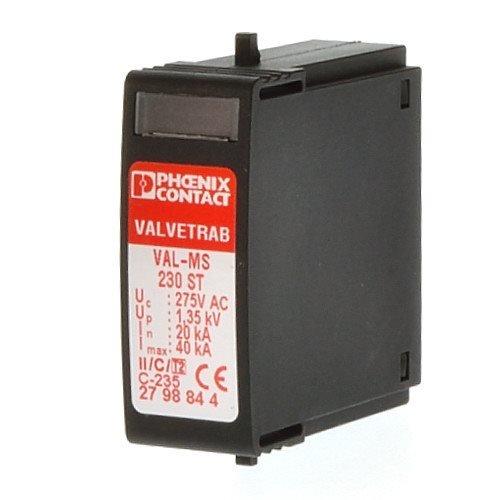 Preisvergleich Produktbild Phoenix Contact Überspannungsableiter VAL-MS 230 ST Typ 2 230VAC Überspannungsableiter für Energietechnik / Stromversorgung 4017918073947