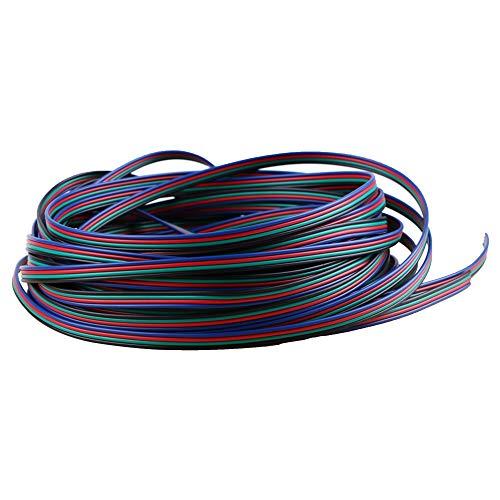 MakerStack 4 Farbe 26.2ft / 8 Mt 22AWG RGB Verlängerungskabel Linie für LED-Streifen RGB 5050 3528 Kabel 4pin drahtgröße 22AWG 8 Mt(26.2ft-22AWG)