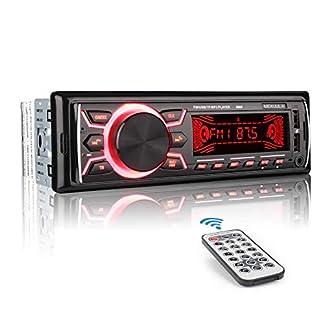 MEKUULA-Autoradio-mit-Bluetooth-Freisprecheinrichtung-60W-x-4-Single-Din-Universal-Autoradio-FM-Empfnger-Eingebautes-Mikrofon-Universal-MP3-Player-Untersttzung-USBTFAUXWMAWAV-Fernbedienung