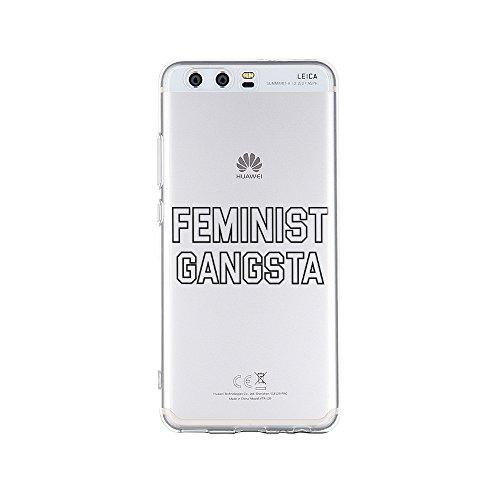 licaso Handyhülle für P10 aus TPU mit Feminist Gangsta Print Design Schutz Hülle Protector Soft Extra