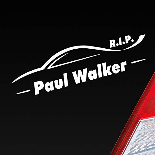 Auto Aufkleber in deiner Wunschfarbe R.I.P. Paul Walker Rest in Peace Legende 15x4 cm Autoaufkleber Sticker Folie