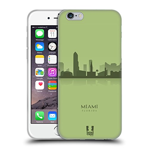 Head Case Designs Bamboo Floreale Lacche Cover Morbida In Gel Per Apple iPhone 7 Plus / 8 Plus Miami