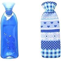 Sicheres PVC-Wärmflasche mit Abdeckung Warm halten für Erwachsene oder Kind 1,0 Liter (blau) preisvergleich bei billige-tabletten.eu