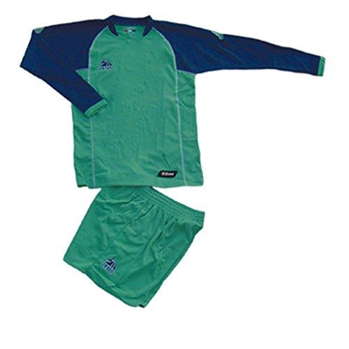 229665548b0991 Kit Zeus Athos Verde-Blu Completino Completo Calcio Uomo Donna Calcetto  Muta Torneo Scuola Sport