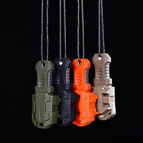 geshiglobal Tragbare Mini EDC Edelstahl Messer Gurtband Schnalle Selbstverteidigung Survival-Werkzeug, Schwarz  (Gurtband Messer)