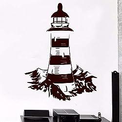 Klassische leuchtturm meer navigation wandaufkleber wohnzimmer dekoration vinyl wandkunst aufkleber wandbild schlafzimmer dekoration 43X57 CM