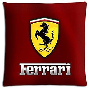 Kissenbezug mit Ferrari-Motiv, Baumwolle und Polyester, mit Reißverschluss, maschinenwaschbar, für Sofakissen, 45 x 45 cm -