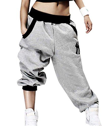 Eté Elégante Mode Pantalons Jogging Femme Avec Poches Taille Élastique Moyen Taille Hip Hop Bouffant Pantalon Sport Vêtements Confortable Tendance Longues Trousers Jeune Mode Style Moderne Party