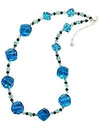 Amanti Venezia Aqua Nugget de cristal de Murano collar de 51cm