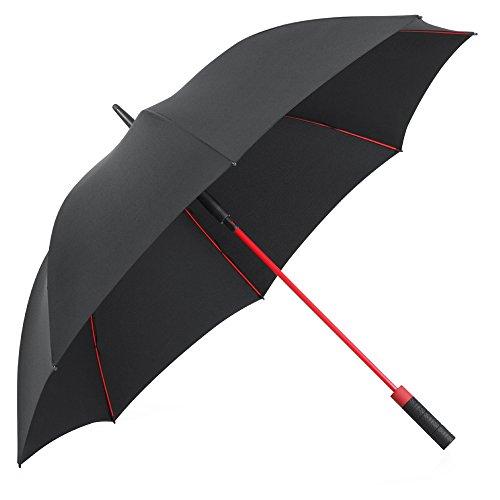 Plemo Ombrello Classico con 8 Stecche di Fibra di Vetro, Apertura e Chiusura Automatica con Diametro di 120CM