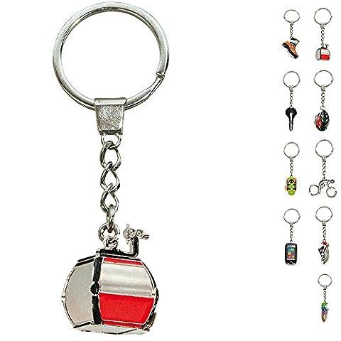 ebos Schlüsselanhänger ✓ aus Metall ✓ Accessoire   fob key   Sport   Sportarten (Gondel / rot-weiß)