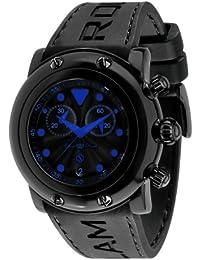 Glam Rock 0.96.2399 - Reloj analógico de cuarzo unisex, correa de silicona color negro
