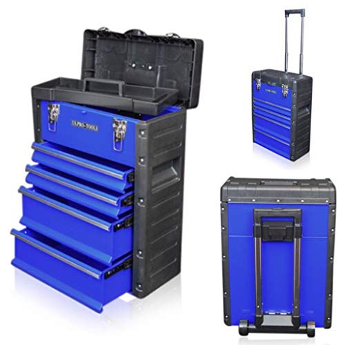 US PRO TOOLS blau Work Center Werkstatt Kunststoff Stahl Mobile Rolling Brust Trolley Cart Schrank TOOL BOX