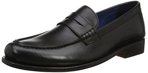 Chatham Herren McQueen Slipper, Schwarz (Schwarz), 41 EU (Schwarze Herren Dress Shoes Loafers)