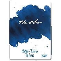 Häfft-Timer A5 2019/2020 [Hello] Hardcover Schüler-Kalender, Schulplaner, Semesterplaner für Oberstufe, Ausbildung oder Studium