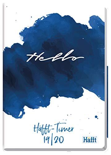 Häfft-Timer A5 2019/2020 [Hello] Hardcover Schüler-Kalender, Schulplaner,