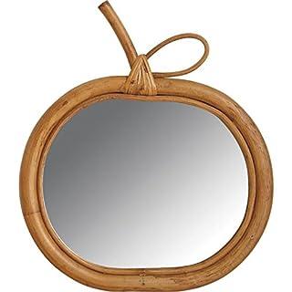 Wandspiegel Spiegel aus Holz, Stuhlrohr, Apfel
