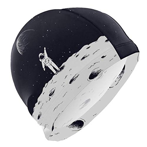 Gebrb Badekappe/Schwimmkappe/Bademütze, Swim Cap Outer Space Galaxy Mens Swimming Cap Boy Adult Teen Swimming Hat No-Slip (Kostüm Space Adult)