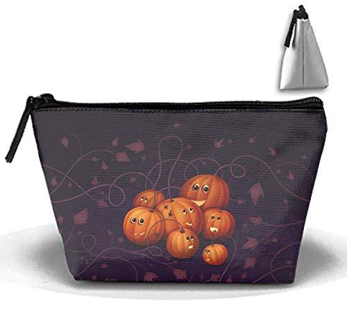 Halloween Kürbis Kulturbeutel, Reise-Make-up-Beutel-verschiedene Tasche, Cosmetics Organizer Bag für Männer und Frauen