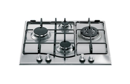 Hotpoint PC 640 T X/HA built-in Gas Stainless steel - Hobs (Built-in, Gas, Stainless steel, Stainless steel, Enamelled, 1000 W)